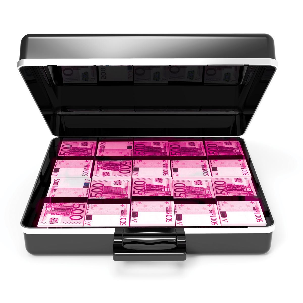 3d Open briefcase